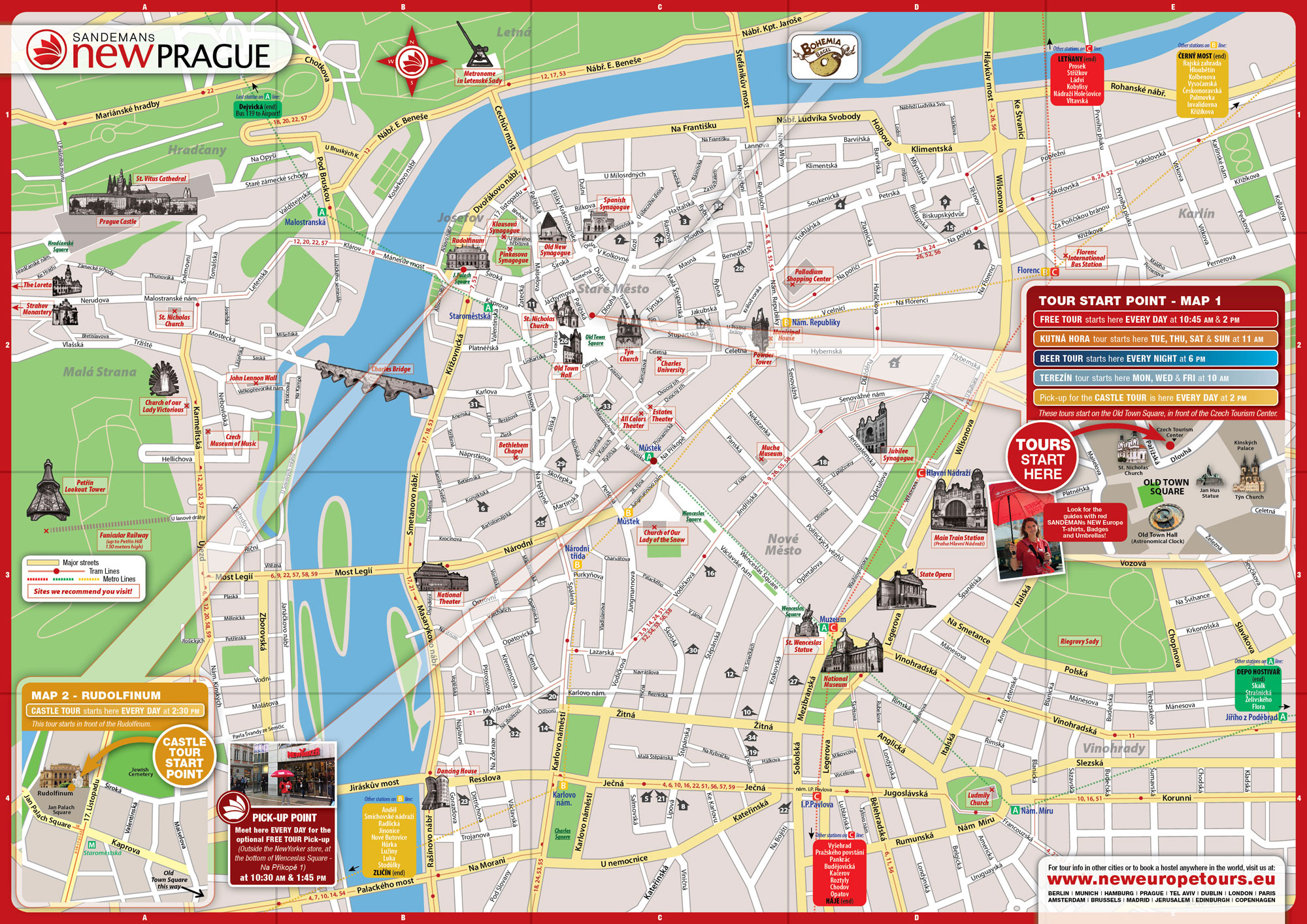 Maps Update 21051488 Prague Tourist Attractions Map